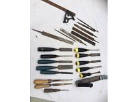 Selection of old chisels