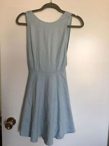 American Apparel pastel blue figure skater dress