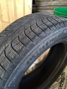 2 Used Winter Tires - Michelin X-Ice 225-60-16 Stratford Kitchener Area image 1