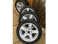 Full set of Nokian Winter Tyres and nice alloys. Used on BMW 320