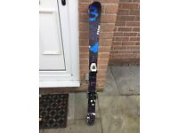 Salomon 120cm skis with bindings