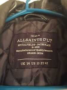 All Saints women's  leather jacket Downtown-West End Greater Vancouver Area image 6