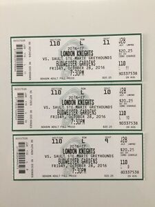 3 London Knights Tickets Lower bowl $60