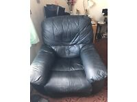 FREE 2 black leather recliner chairs