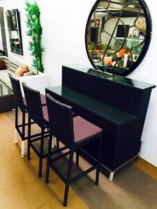 Bar 7pc Setting. Stackable Stools with Cushions. Sturdy Structure Berwick Casey Area Preview