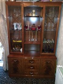 Dresser for dining room with lights