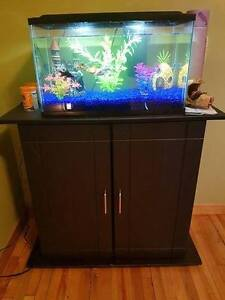 10 GALLON LED FISH TANK WITH ACCESSORIES AND STAND INCLUDED