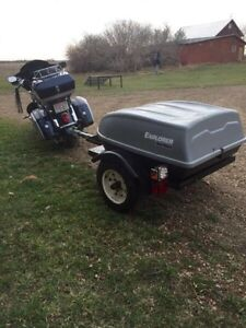 Motorcycle / small utility/cargo trailer.