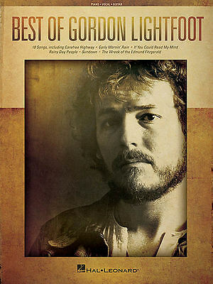 Best of Gordon Lightfoot Sheet Music Piano Vocal Guitar SongBook NEW 000139390