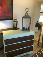 Stunning Refinished Antique Wood Waterfall Dresser!