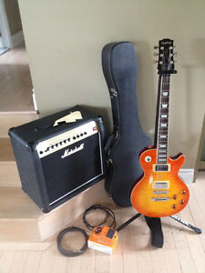 Combo Epiphone/Gibson Les Paul - Ampli Marshall West Island Greater Montréal image 2