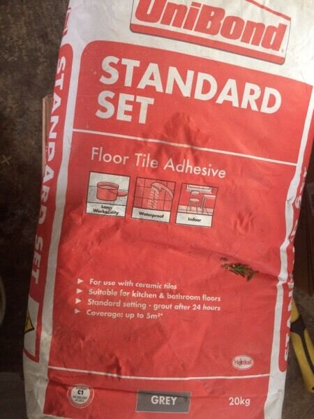 2 bags of unibond floor tile adhesive