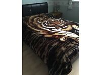 Tiger bedspread/ throw for sale