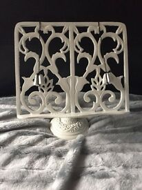 White iron book stand £10
