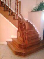 Stair Recaps, Railings, Hardwood Flooring