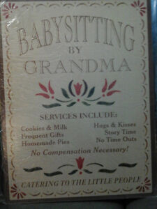 Great For Grandma's!! Tin Sign-NEW! -Great Gift