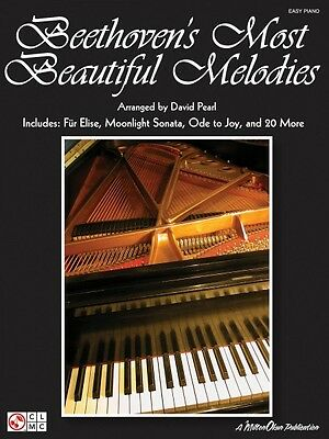 Beethoven's Most Beautiful Melodies Sheet Music Easy Piano Composer Co 002500972