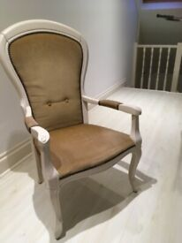 A GREAT LOOKING FRENCH VINTAGE STYLE BEDROOM CHAIR ,NICE PRE-LOVED CONDITION ,FREE DELIVERY
