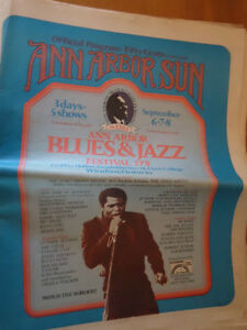 Ann Arbor Sun- Blues and Jazz 1974