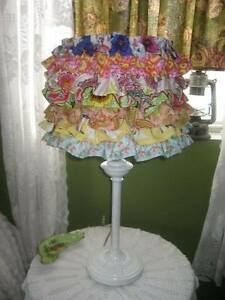 Chic Girlie Ruffled Table Lamp!~Freshly UPCycled!