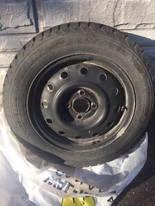 4 Goodyear Nordic winter tires for small car