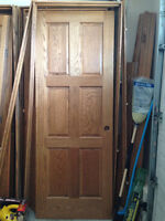 Solid oak doors and frame