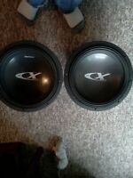 Alpine type X 2 12inch sub woffers