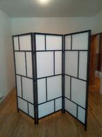 Paravent noir et blanc d'Ikea