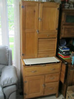 VERY RARE APARTMENT SIZE ELM HOOSIER CABINET COMPLETE