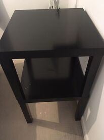 2 black tables
