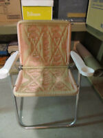 Lawn Chair Hand Woven