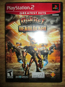 ***PS2 RATCHET DEADLOCKED COMPLETE/TESTED W/ENGLISH+FRENCH INST!