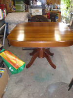 """WOOD DINING TABLE FIXED SIZE 53"""" X 46"""" $40 519 729-5862"""
