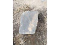 Bull-nose edging stones