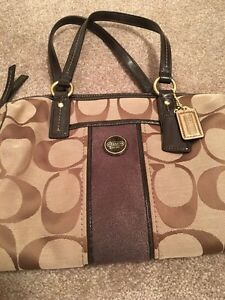 Coach - brown and beige matching purse and shoes Strathcona County Edmonton Area image 4