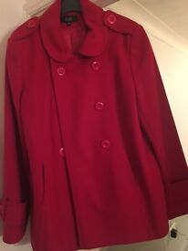 Ladies Red Marks & Spencer Coat size 14 - used