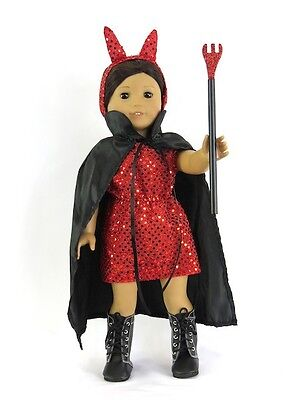 Devil Costume For Halloween (DEVIL COSTUME for Halloween or Parties: Pitchfork + Boots fits American)