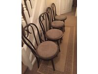 4x old wooden chairs