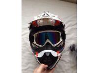 Motorcross helmet and fox kit