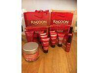 Raccoon hair extension hair care