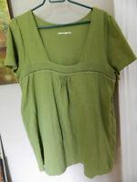 Penningtons Womens Green Tunic Top Size 2X