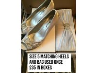 Heels and and bag set size 5
