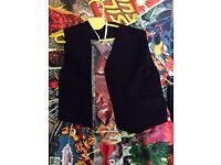 BLACK BOYS FORMAL Jacket/Waistcoat and Tie/Bow tie Set Aged 2-3yrs