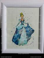 Cinderella Inspired Wall Art - Also Tiana Snow White Aurora etc.