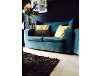 GATSBY STYLE, 1930s ART DECO SUITE OF SOFA AND TWO ARMCHAIRS