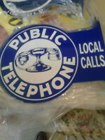 Flange Signs - Pepsi and Public Telephone - Double Sided