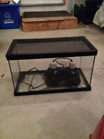 Reptile Tank and Duel Light with Reinforced Sliding Lid