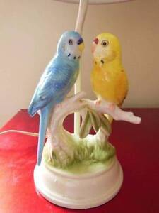 Vintage/retro ceramic budgie lamp, made in Japan Capital Hill South Canberra Preview