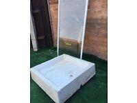 Shower tray and door