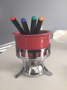 Chocolate fondue set. Never been used